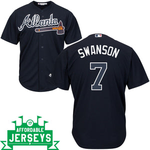 Dansby Swanson Road Cool Base Player Jersey - AffordableJerseys.com
