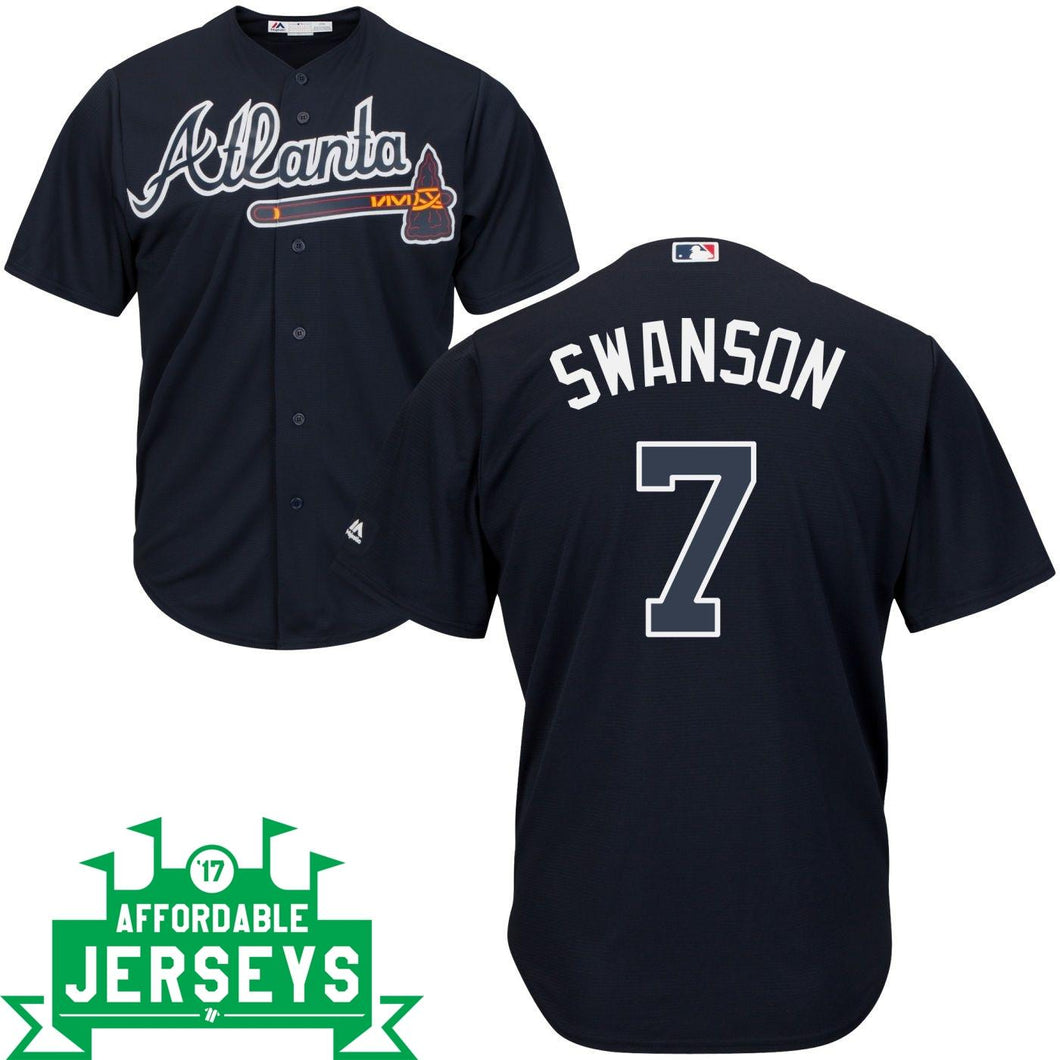 Dansby Swanson Road Cool Base Player Jersey