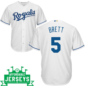 George Brett Home Cool Base Player Jersey - AffordableJerseys.com