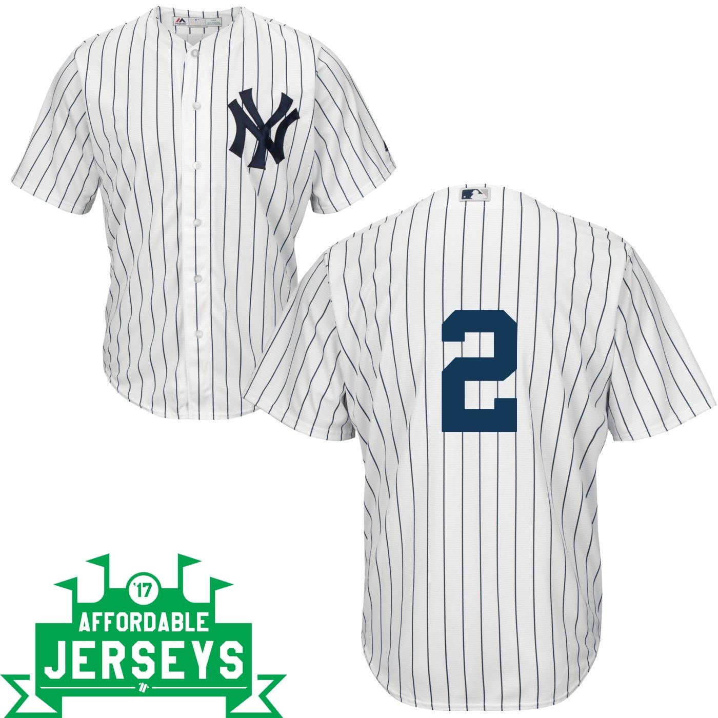 Derek Jeter Home Cool Base Player Jersey - AffordableJerseys.com