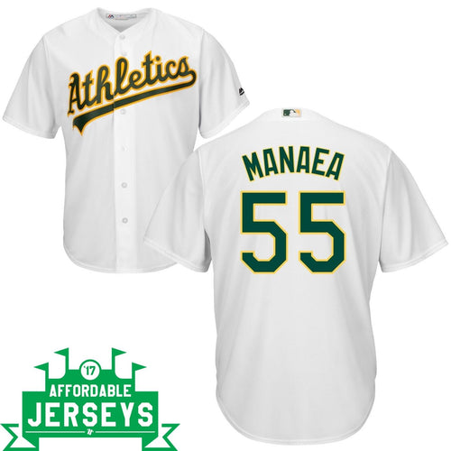 Sean Manaea Home Cool Base Player Jersey - AffordableJerseys.com