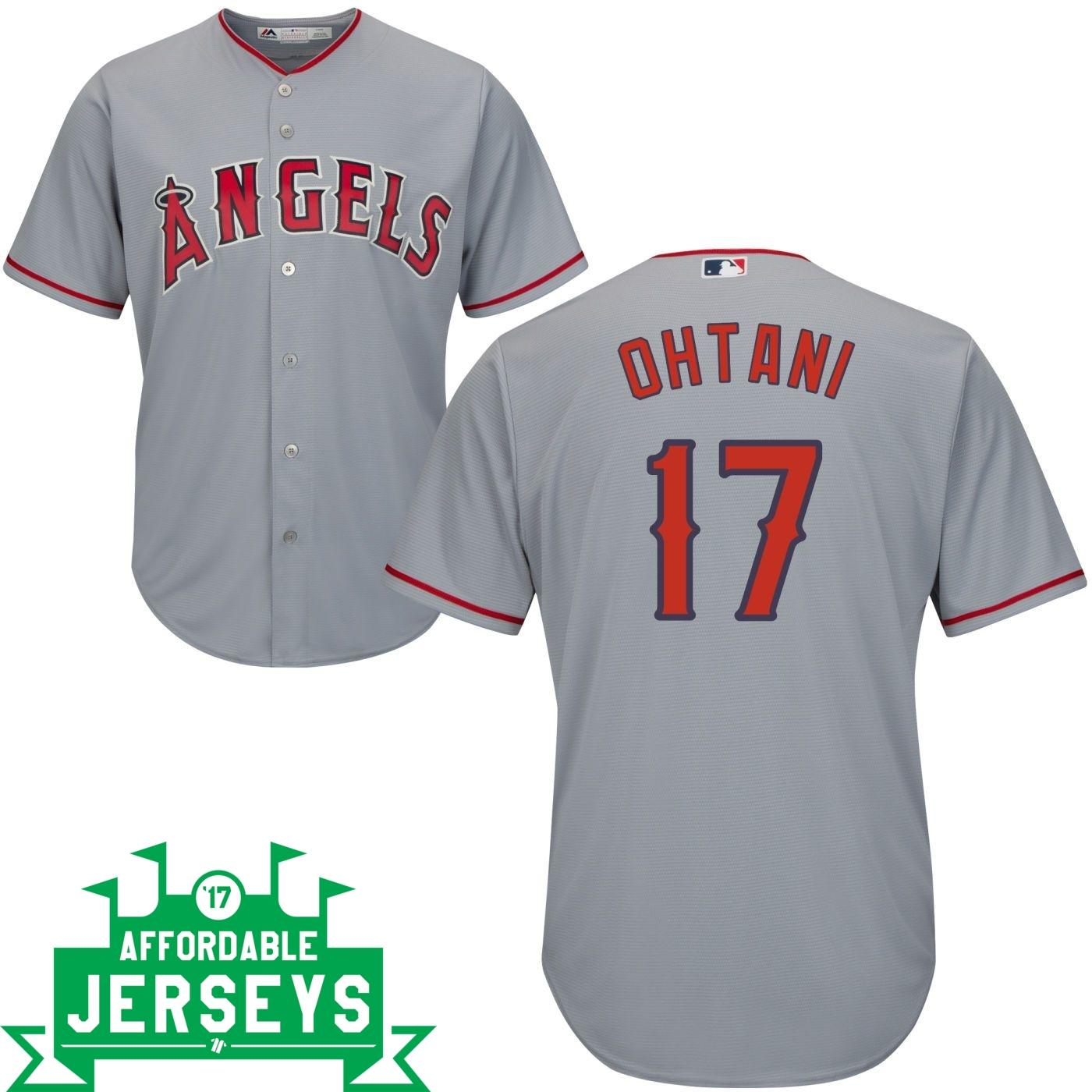 Shohei Ohtani Road Cool Base Player Jersey - AffordableJerseys.com