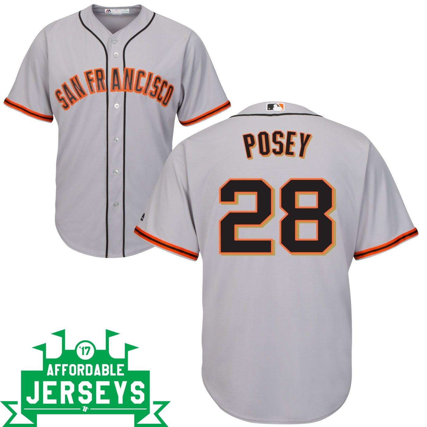 Buster Posey Road Cool Base Player Jersey - AffordableJerseys.com