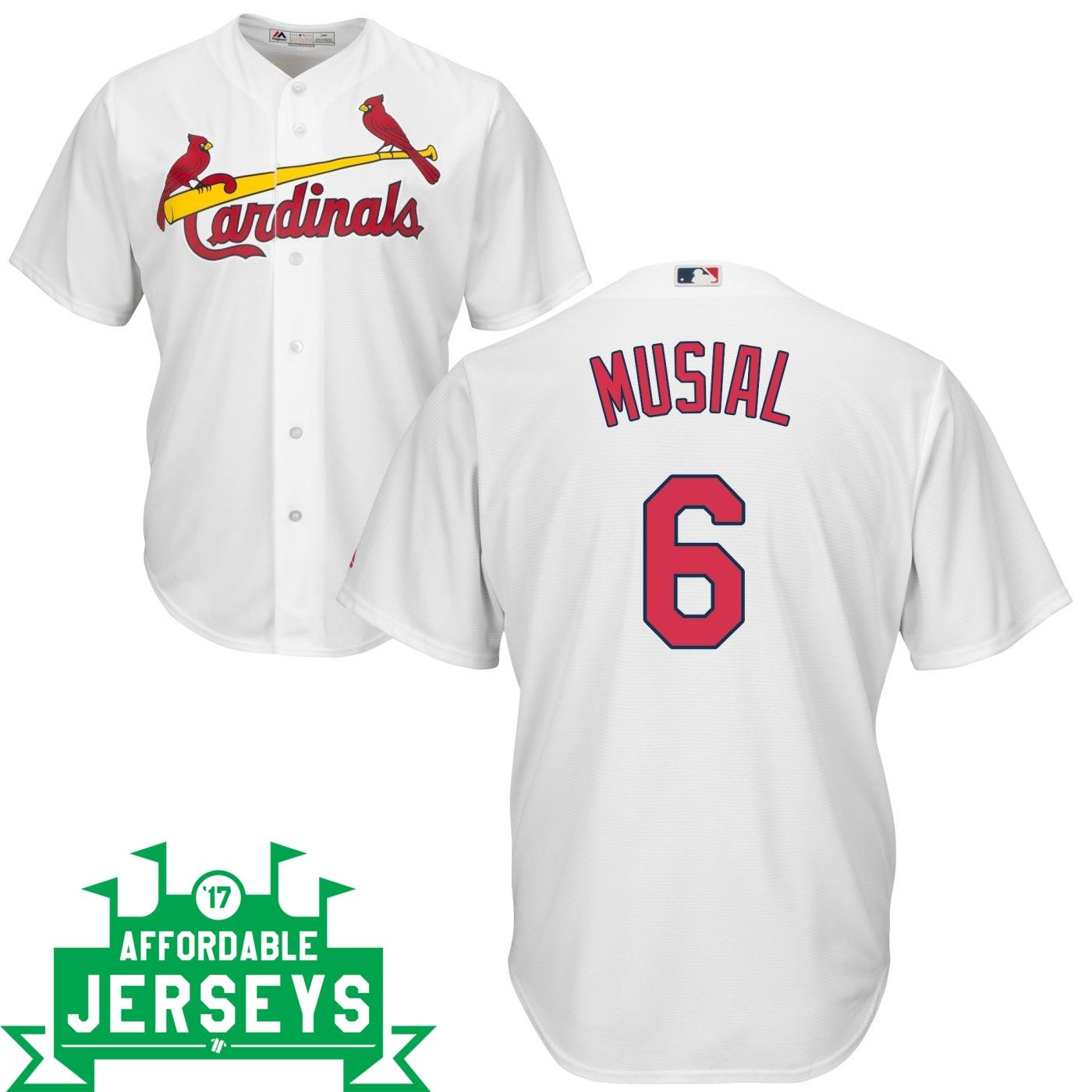Stan Musial Home Cool Base Player Jersey - AffordableJerseys.com