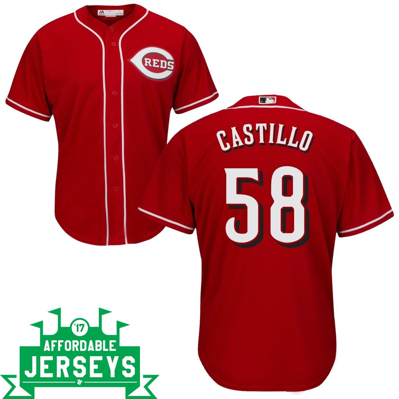 Luis Castillo Road Cool Base Player Jersey - AffordableJerseys.com