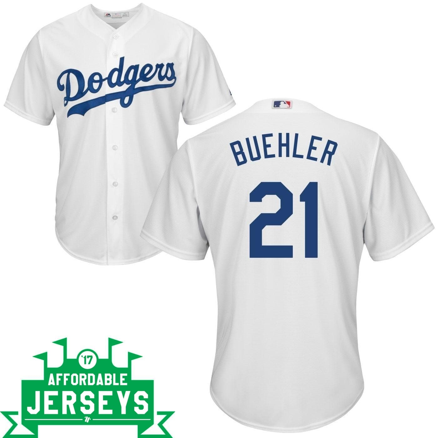Walker Buehler Youth Home Cool Base Player Jersey - AffordableJerseys.com