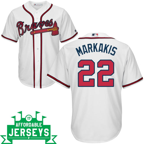 Nick Markakis Home Cool Base Player Jersey - AffordableJerseys.com