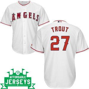 Mike Trout Youth Home Cool Base Player Jersey - AffordableJerseys.com