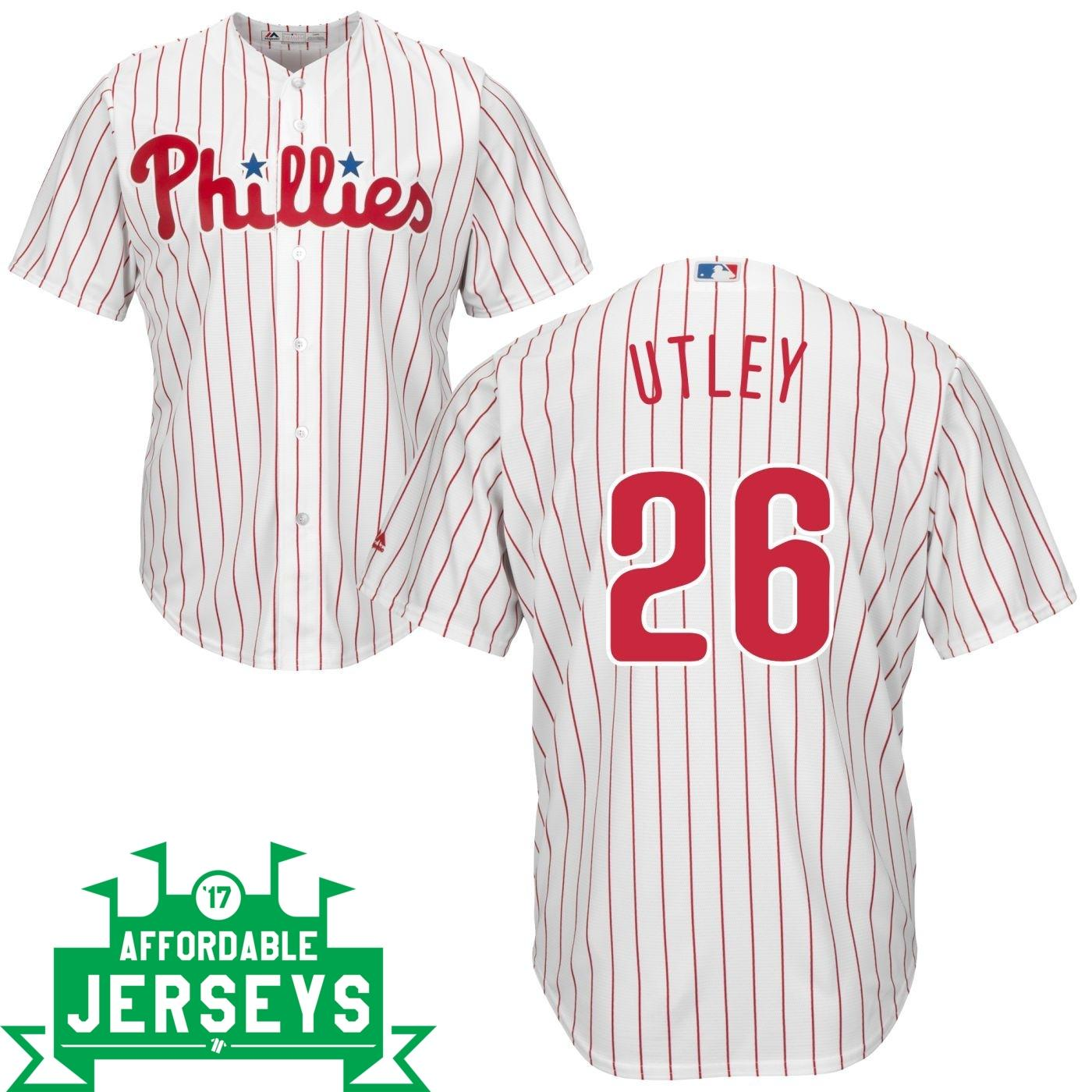 Chase Utley Home Cool Base Player Jersey - AffordableJerseys.com