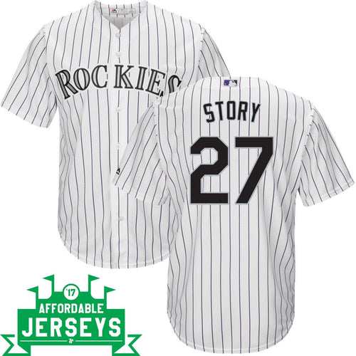 Trevor Story Home Cool Base Player Jersey - AffordableJerseys.com