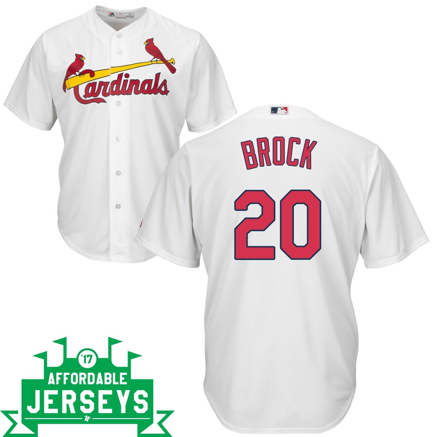 Lou Brock Home Cool Base Player Jersey