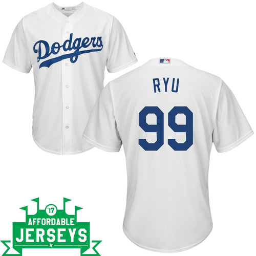 Hyun-Jin Ryu Home Cool Base Player Jersey - AffordableJerseys.com