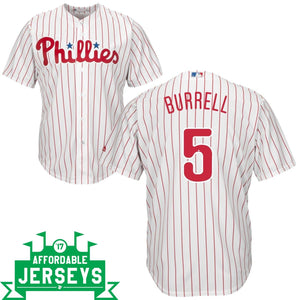 Pat Burrell Home Cool Base Player Jersey - AffordableJerseys.com