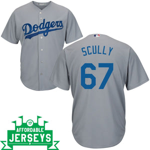 Vin Scully Road Cool Base Player Jersey