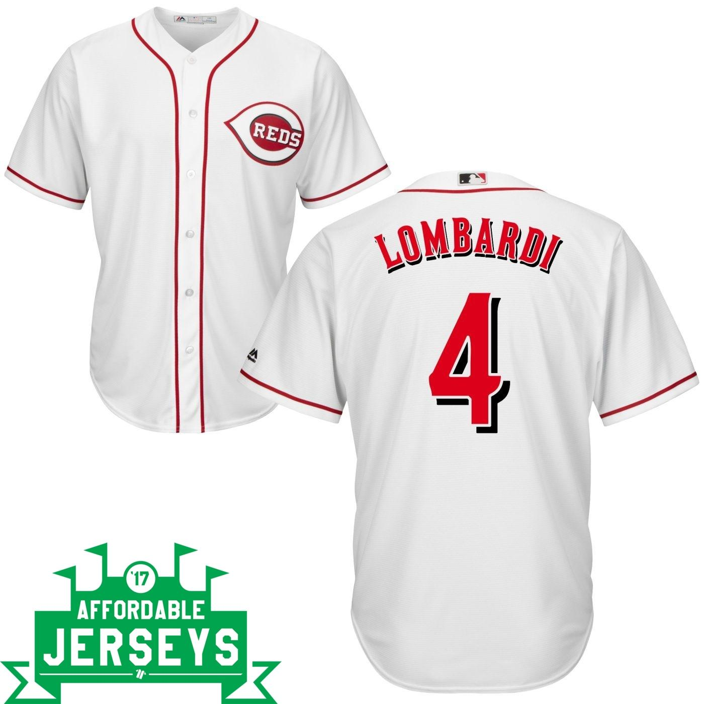 Ernie Lombardi Home Cool Base Player Jersey