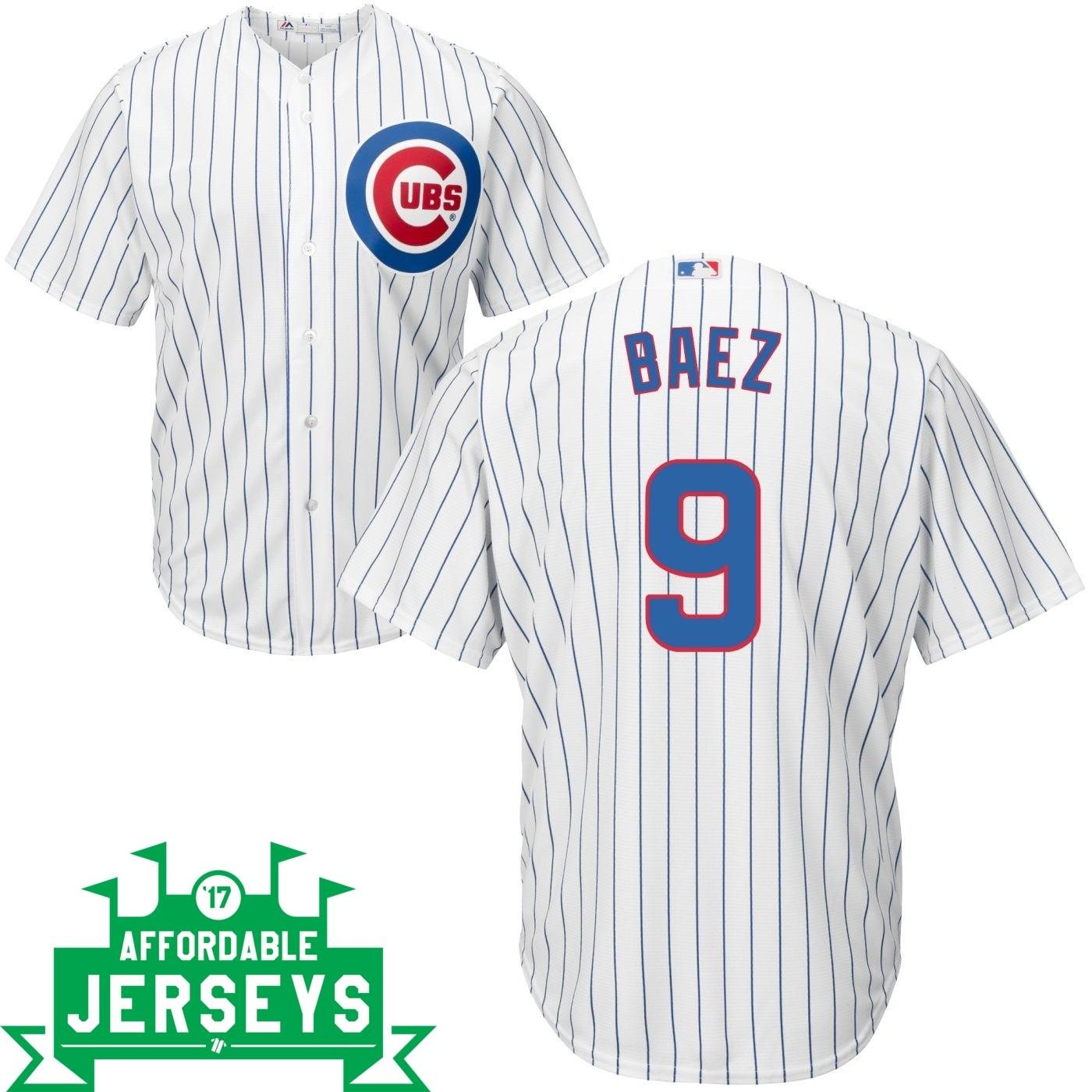 Javier Baez Home Cool Base Player Jersey - AffordableJerseys.com
