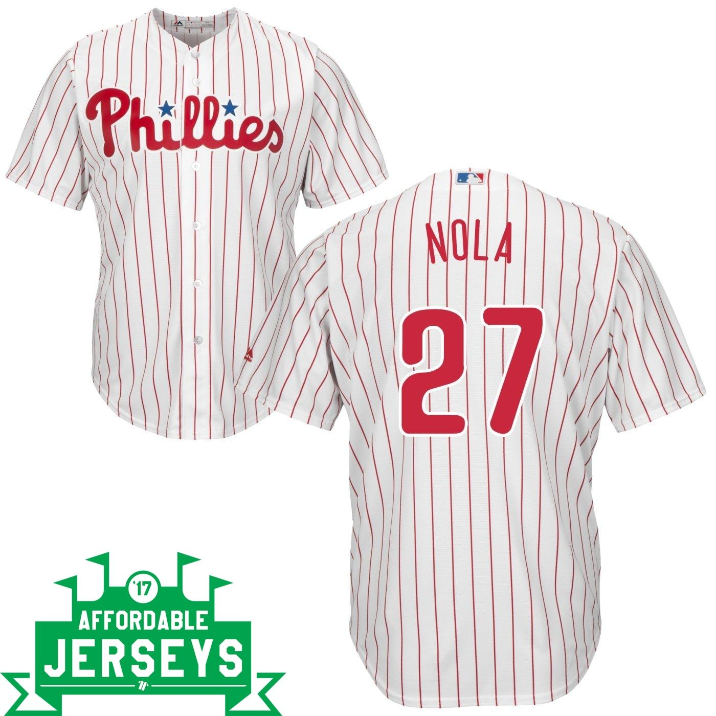 Aaron Nola Home Cool Base Player Jersey - AffordableJerseys.com