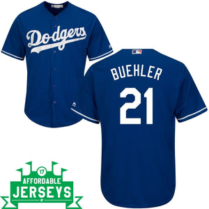 Walker Buehler Alternate Cool Base Player Jersey - AffordableJerseys.com