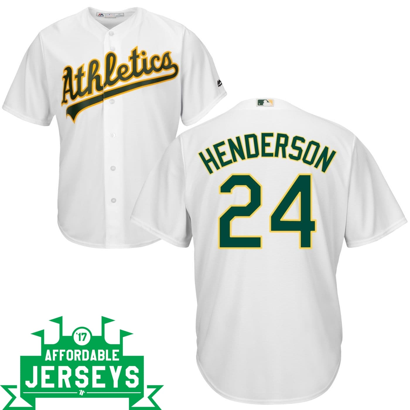 Rickey Henderson Home Cool Base Player Jersey - AffordableJerseys.com