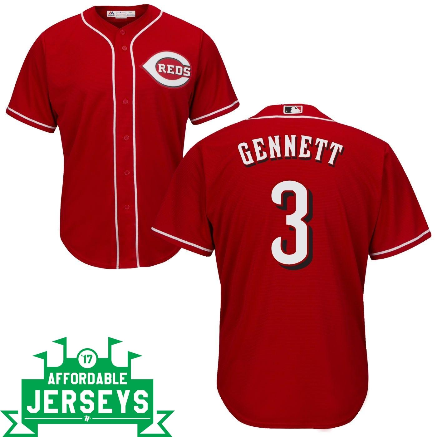 Scooter Gennett Road Cool Base Player Jersey - AffordableJerseys.com