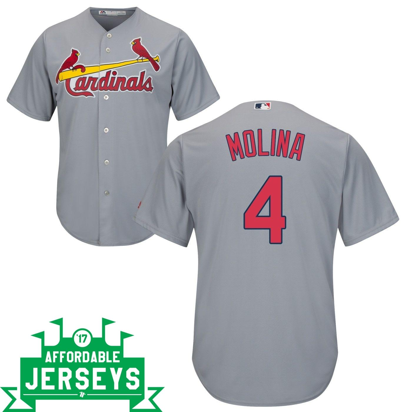 Yadier Molina Road Cool Base Player Jersey - AffordableJerseys.com