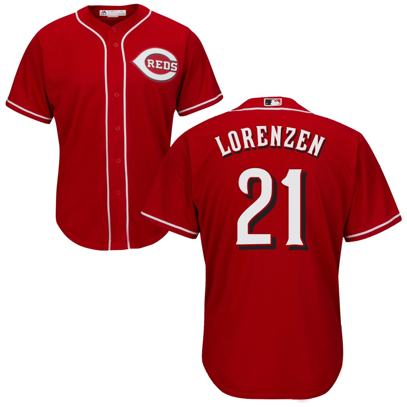 Michael Lorenzen Road Cool Base Player Jersey - AffordableJerseys.com