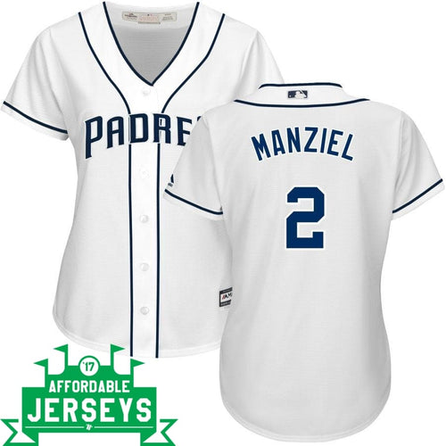 Johnny Manziel Home Women's Cool Base Player Jersey - AffordableJerseys.com