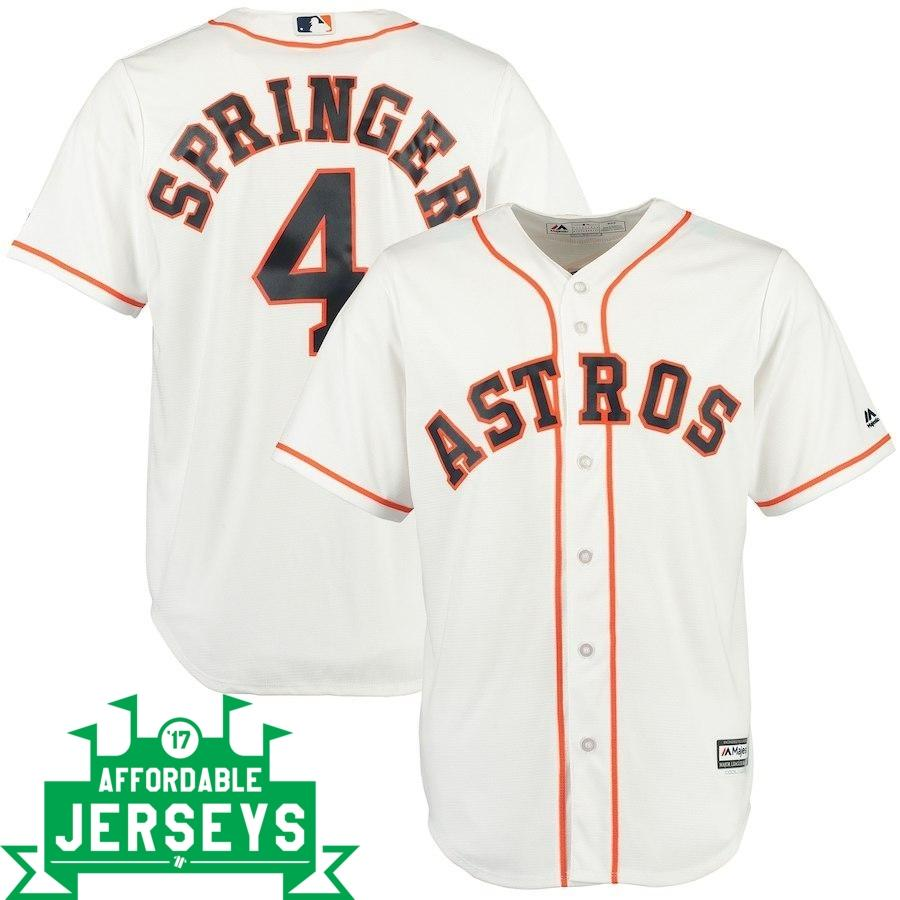 George Springer Home Cool Base Player Jersey - AffordableJerseys.com