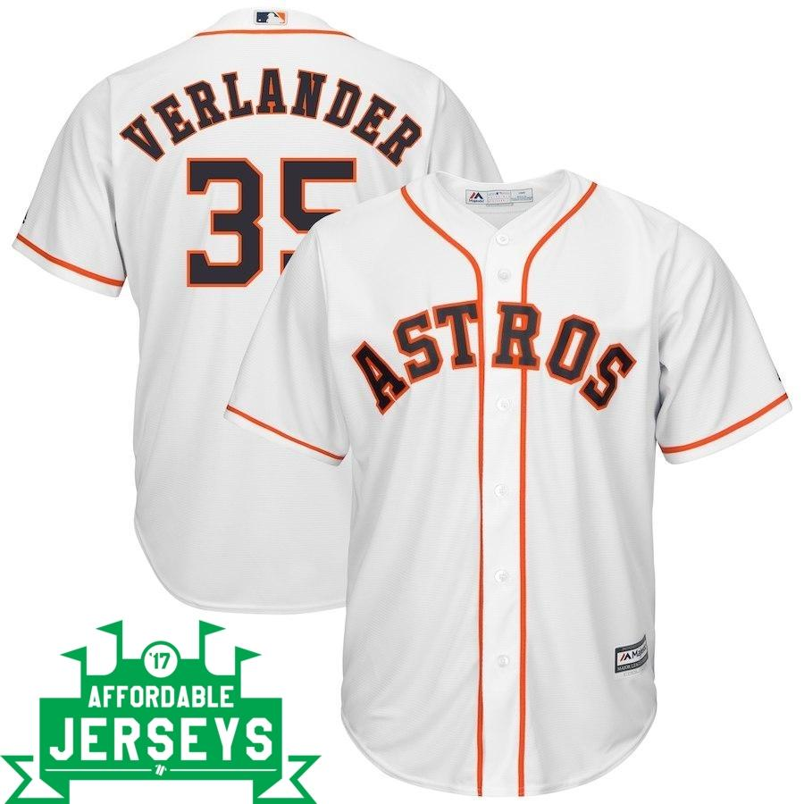 Justin Verlander Home Cool Base Player Jersey - AffordableJerseys.com