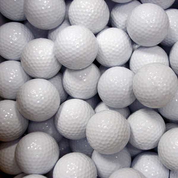 Plain White Golf Balls (24 Dozen-Bulk pkg)