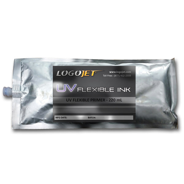 LogoJET UV-Curable Ink for UV2400, UVx60 and UVx90 Printers, 200ml Bag