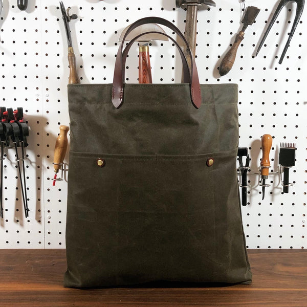Hanson oiled canvas tote