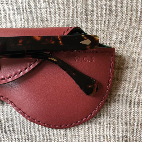 Hanson of London monogrammed leather