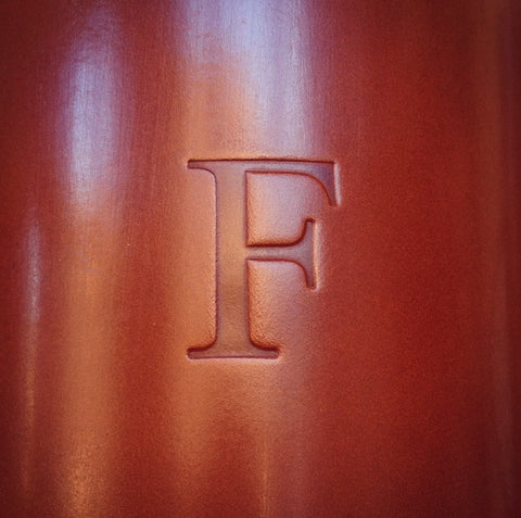 English bridle leather embossing