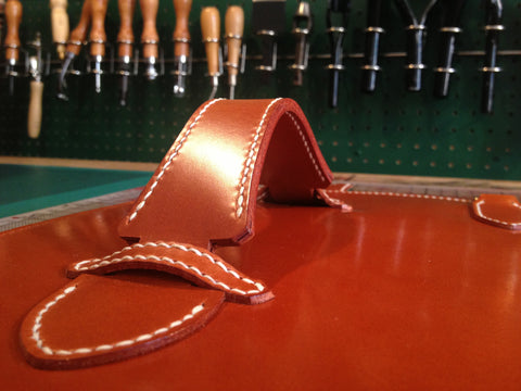 Making process, bespoke leather flask