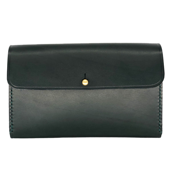 Designer green clutch