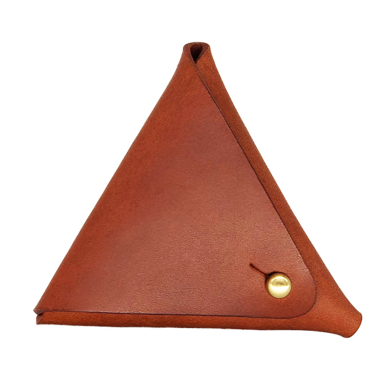 Designer leather coin pouch
