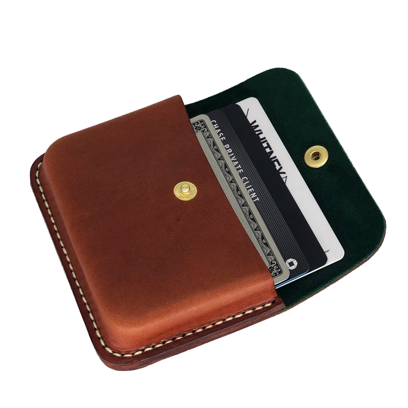 Bespoke leather cardholder