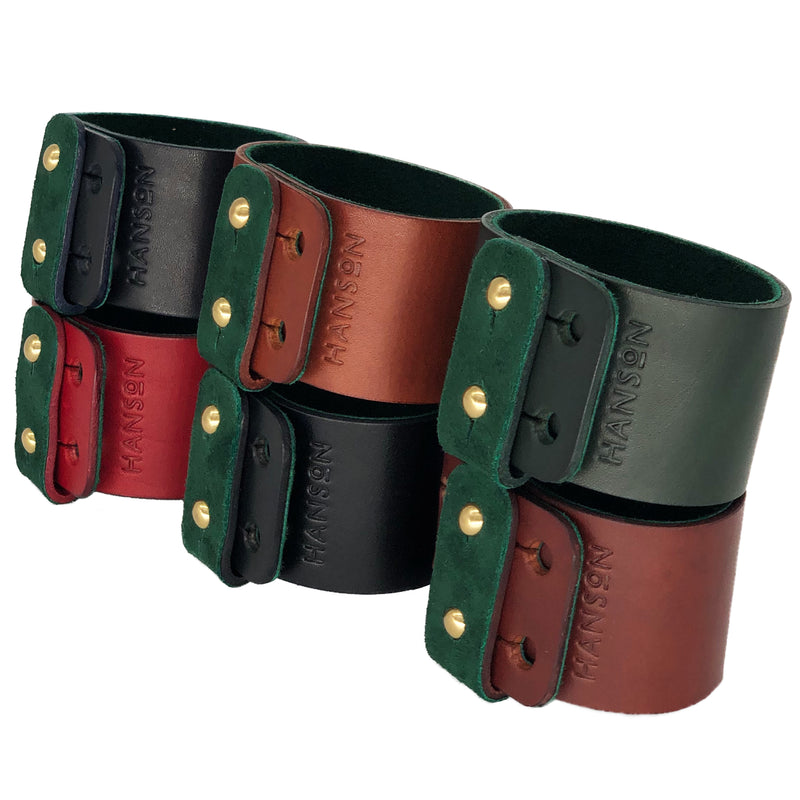 Designer leather bracelet