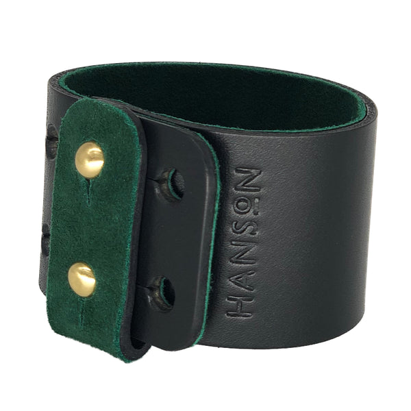 Designer leather wristband