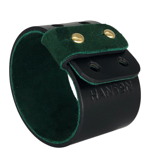 Designer leather cuff