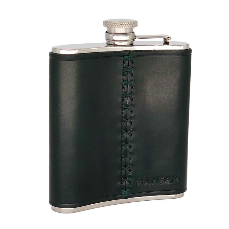 Bridle leather hip flask