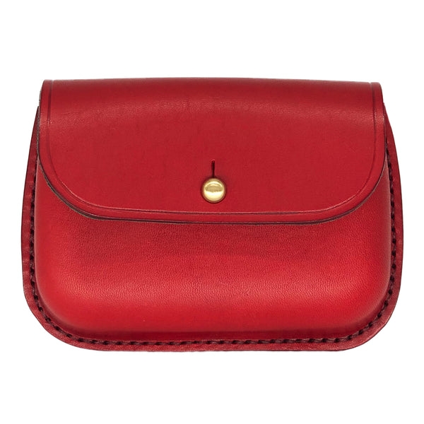 Red leather coin purse Hanson