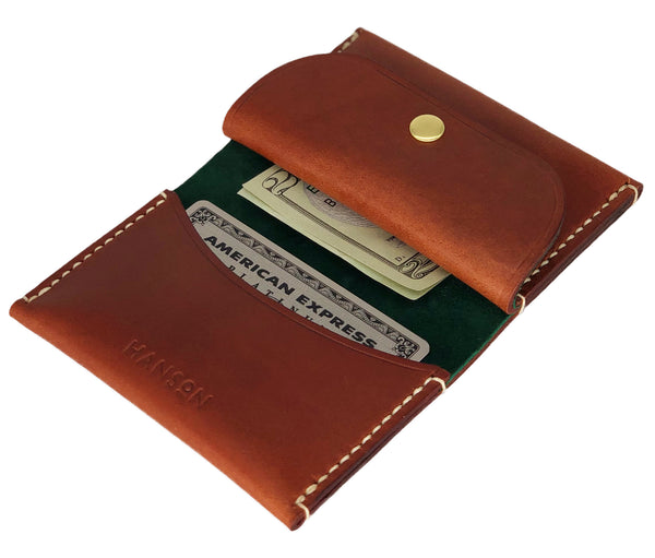 Personalized leather cardholder