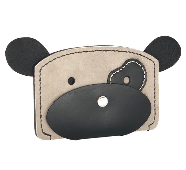 Leather dog cardholder