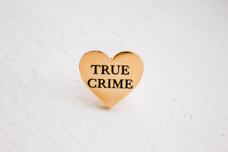 True Crime Lover Gold Enamel Pin