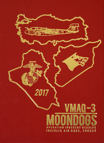 Marine Tactical Electronic Warfare Squadron 3 (VMAQ 3) Moondogs 2017 Deployment Book