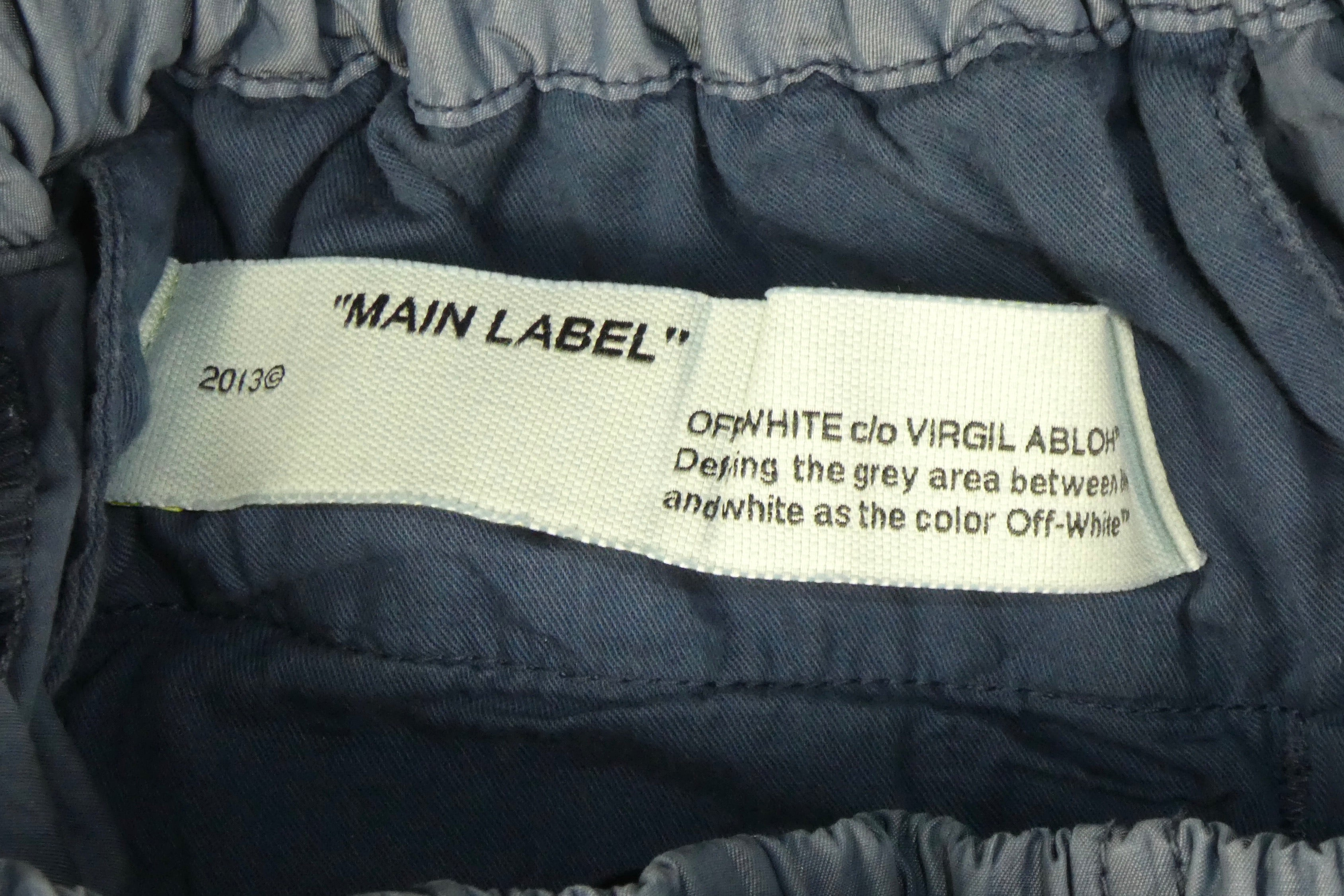 Off White Cargo Track Pants - 30 waist (medium)