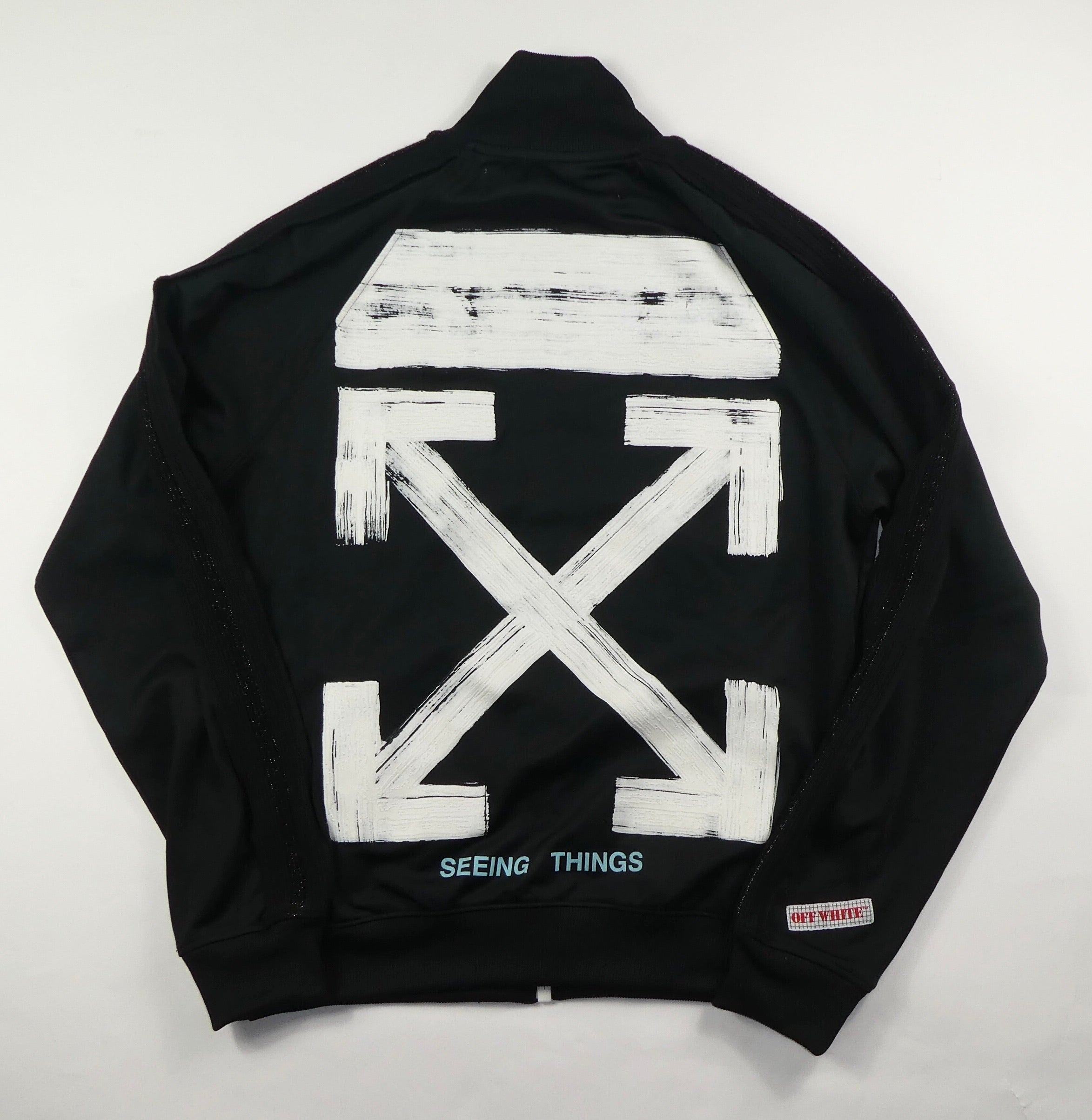 Off White Brushed Arrows Track Jacket - Medium