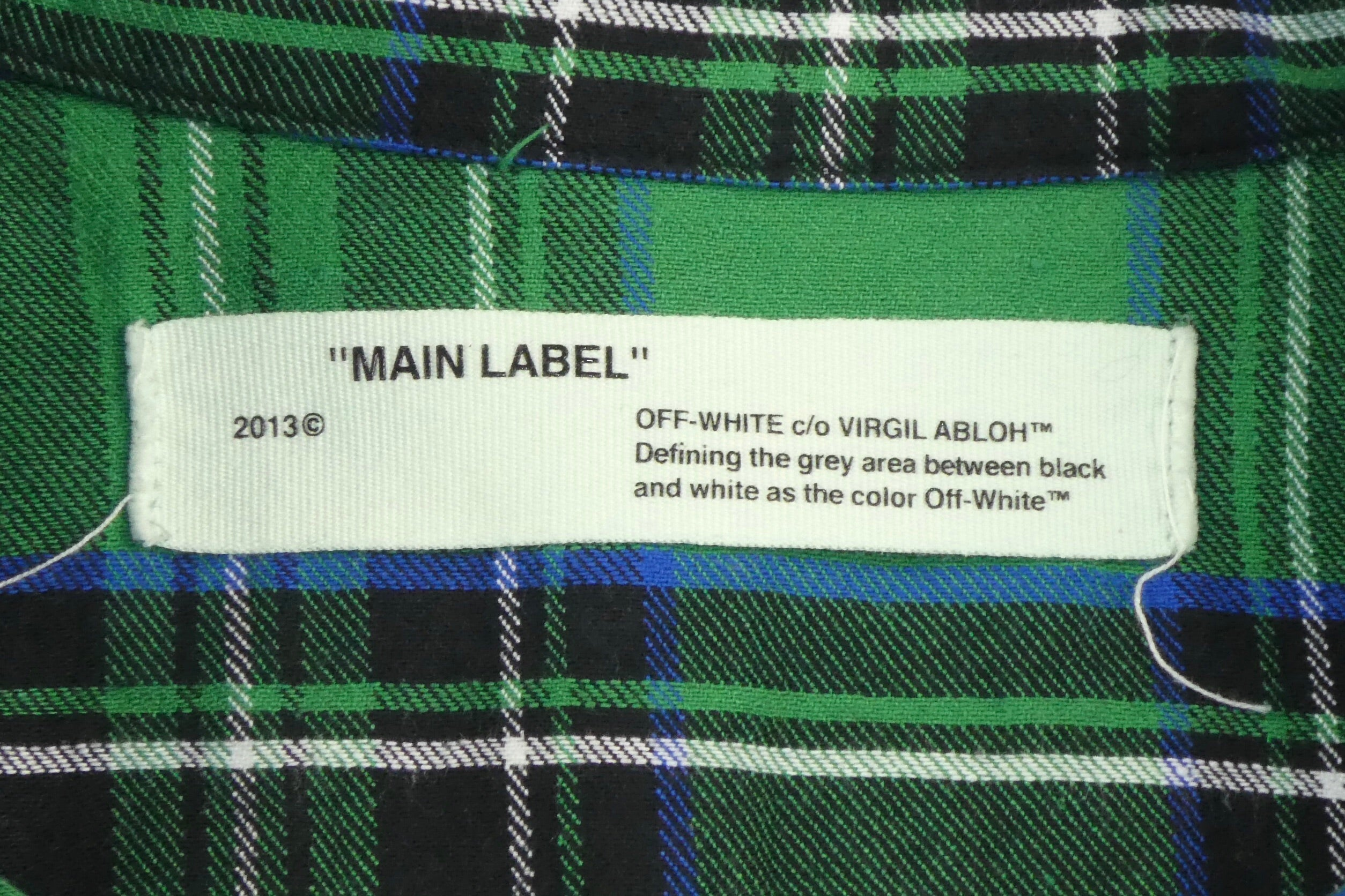 Off White Virgil Abloh Spray Check Shirt - XS